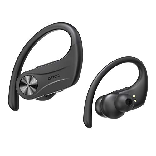 Otium Wireless Earbuds, Sport 5.0 Bluetooth Headphones Hi-Fi Stereo Bass Sound 130H Playtime TWS Wireless Earphones IPX8 Waterproof in-Ear Buds with Mic & Charging Case for Running Workout Gym