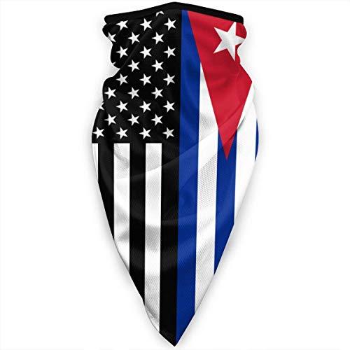 Estados Unidos Cuba Bandera Cubana Mascarilla Cuello Polainas Pañuelo Bufanda Pasamontañas Sombreros multifuncionales
