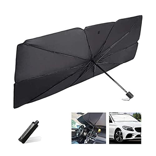 LAD Parasol plegable para parabrisas de coche, parasol reflectante para ventana delantera del coche, bloquea los rayos UV, el calor mantiene el vehículo fresco (M)