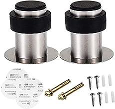 Shackcom 2 stuks Deurstoppers Door Stoppers 41mm met Rubberen Bumper voor Wandmontage, Roestvrijstalen Heavy-duty Deurstop...