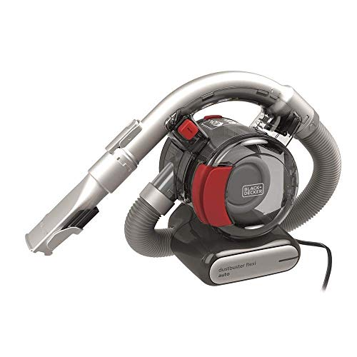 Black & Decker PD1200AV-XJ Black+Decker 12 V Flexi Auto Dustbuster, Grey/Red