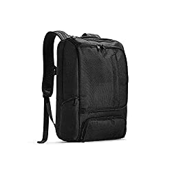 eBags Professional Slim Laptop Backpack for Travel, School & Business - Fits 17 Inch Laptop - Anti-Theft - (Solid Black)