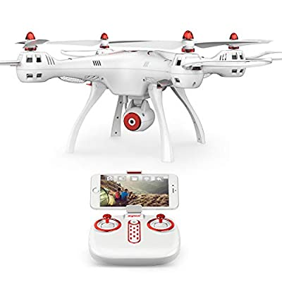 DoDoeleph Syma X8SW RTF FPV Real Time 4 CH 2.4Ghz 6 Axis Gyro Remote Control RC Quadcopter UFO Helicopter Drone HD Camera Altitude Hold Headless Mode Hover Function One Key Take Off Landing White