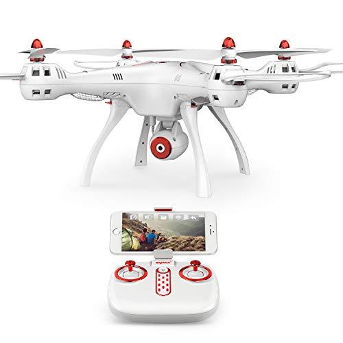 DoDoeleph Syma X8SC RC Drohne mit 2.0MP HD Kamera Kopflosmodus One Key Start /Landung Höhesaufstellung 4CH 6-Achsen Quadrocopter RTF Für Anfänger Kinder