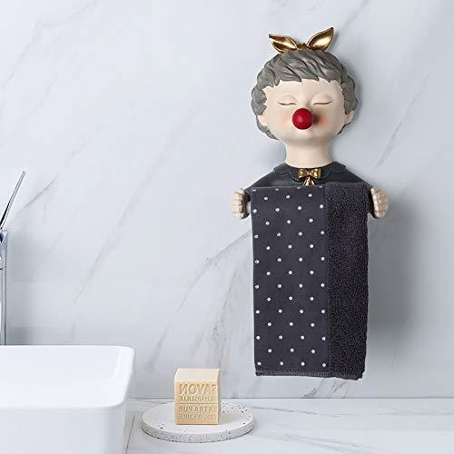 Fengyj Toilettenpapier-Halter Für Badezimmer-Küche-Stick An Dem Wall,Rot