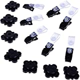 Garden Flag Stoppers – Flag Stabilizer Weights for Windy Days – Yard Flag Holder – Pack of 7 Banner Clips – Holiday Garden Flag Accessory Set of Stoppers and Flag Clips – Heavy-Duty Rubber Material