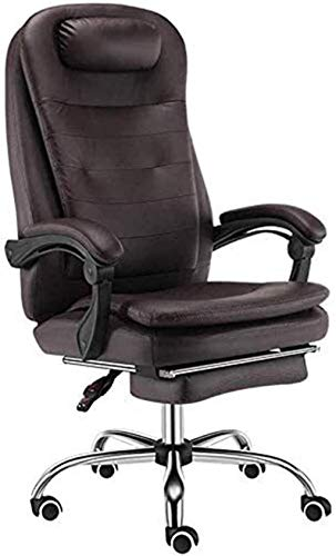 Sillas de Oficina Silla de Oficina Silla Boss con sillón de reposapiés Durante el Descanso del Almuerzo E-Sports School Ascensor Silla Ergonómica (Color : Brown, Size : 46x65x115cm)