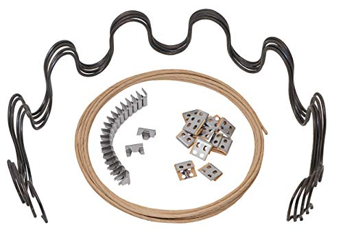 House2Home - Kit di ricambio per divano da 31 cm, 4 molle, clip, filo per la riparazione di mobili e sedie, istruzioni incluse (lingua italiana non garantita)