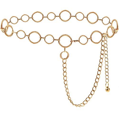 BAOKELAN Cinturones De Cadena con Anillo En O para Mujeres Y Niñas,...