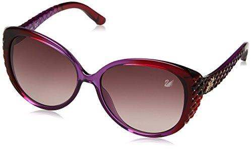 Swarovski SK0068-5883T Gafas de sol, Violet/Gradient Bordeaux, 58 para Mujer
