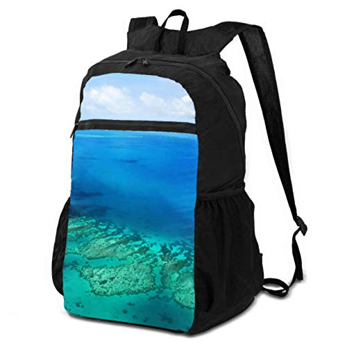 JOCHUAN Packable Backpack for Men Australia Great Barrier Reef Coral Foldable Travel Backpack for Women Hiking Daypacks for Men Lightweight Waterproof for Men & Womentravel Camping Outdoor