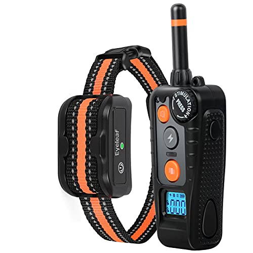 Dog Training Collar,Dog Bark Collar with Remote,Wheel Type Adjustable Remote Control,Profession w/3 Training Modes,Beep,Vibration and Shock,Rechargeable & IPX7 Rainproof,for Small Medium&Large Dogs
