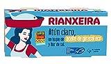 RIANXEIRA Atún Claro Ligero con un toque de Aceite de Girasol Ecológico y Flor de Sal. Certificación de Pesca Sostenible MSC.