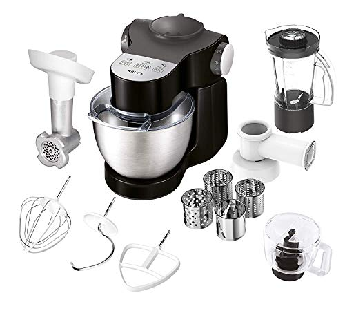 Krups ka3198 Master Perfect Plus Robot de cocina, 1000, 4 L), color gris oscuro/Chrome/Negro