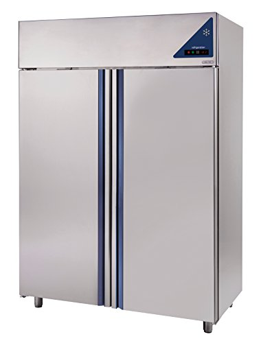 Gastlando - Premium Edelstahl Gewerbe-Tiefkühlschrank - Umluft - 1200 Liter - Edelstahltüren -18° bis -22 °C