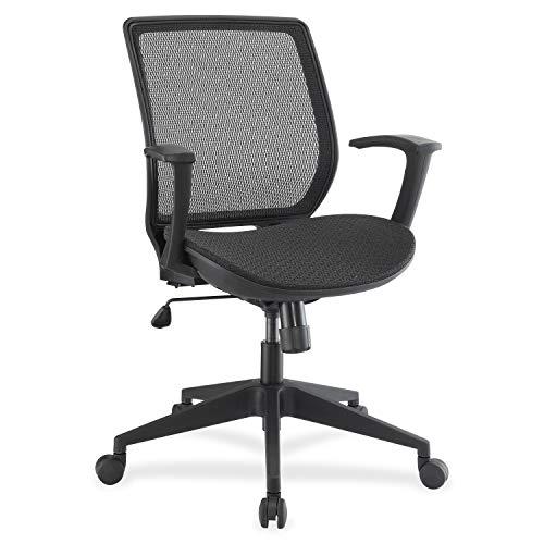 Lorell Mesh/Mesh Executive Mid-Back Chair, Black