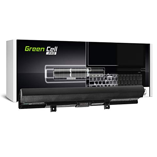Green Cell Pro Batería para Toshiba Satellite L50-B-23H L50-B-23Z L50-B-241 L50-B-24U L50-B-24V L50-B-27P L50-B-281 L50-B-2D4 L50-B-2E2 L50-B-2EC L50-B-2EZ Portátil (2600mAh 14.4V Negro)