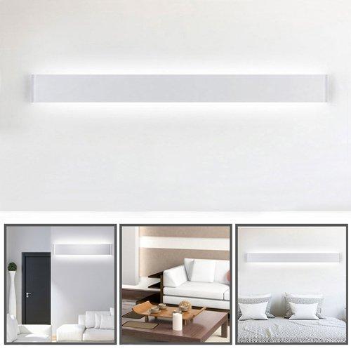 Ralbay LED Wandlampe Up & Down Wandleuchte Innen Spiegelleuchte Neutralweiß 4500K Badlampe Wasserdicht 30W für Badzimmer Schlafzimmer Wohnzimmer Treppen 32.67in Weiß