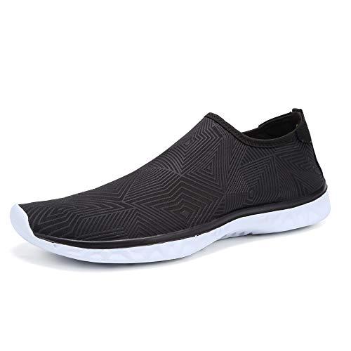Deportes Acuáticos Calzado de Natación Unisex Zapatos de Agua Secado Rápido Respirable Water Shoes Escarpines Nadada de la Playa de la Resaca de la Yoga(C.Negro,41EU)