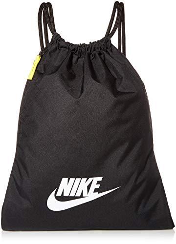 Nike Nike Heritage Gym Sack - 2.0, Black/Black/White, Misc