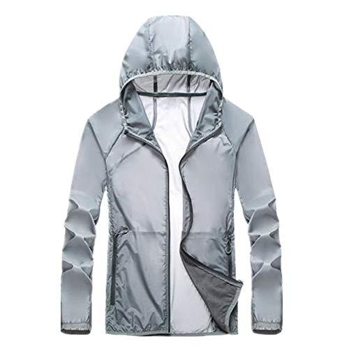 Vêtement d'été pour extérieur, protection solaire, léger, imperméable et respirant pour couple. - Gris - M