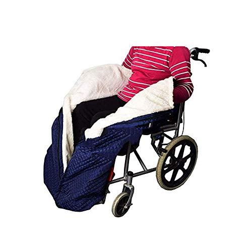 Rollstuhlsack Fußsack,Schlupfsack Rollstuhl-Decke mit Zipper, Cashmere-Gefüttert & Wasserdicht, Universal fit für manuell und elektrisch betriebene Rollstühle, maschinenwaschbar, Erwachsene Größe
