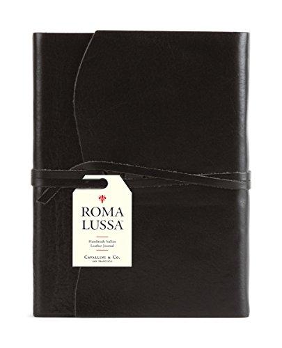Cavallini & Co. Roma Lussa Leather Journal Black