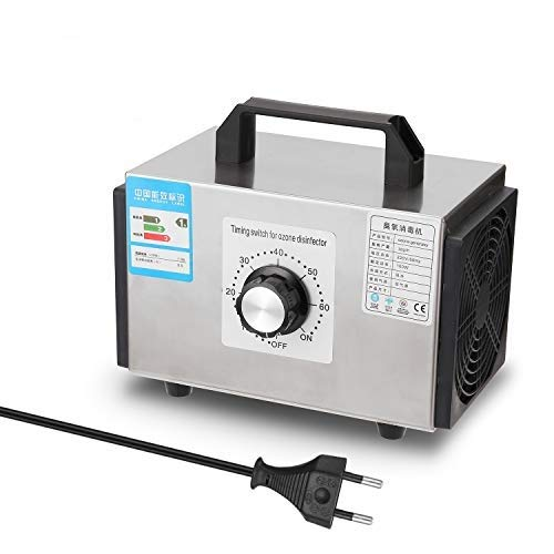 KKmoon Generador de Ozono Doméstico Pro MÁQUINA de Ozono Purificador de Aire de Acero Inoxidable Limpiador de Aire Desinfección Equipo de Esterilización