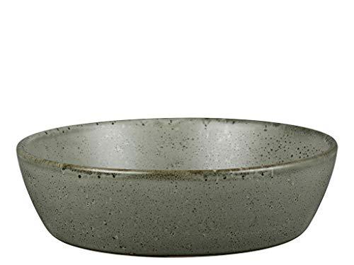 BITZ Suppenschüssel/Suppenschale aus robustem Steinzeug, 18 cm im Durchmesser, grün