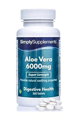 Aloe Vera Tablets 6000mg | Vegan & Vegetarian Friendly | 360 Tablets | Manufactured in The UK