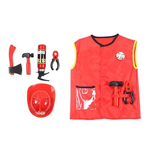 PRETYZOOM - Conjunto de accesorios para disfraz de bombero para fiestas de disfraces