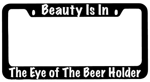 Preisvergleich Produktbild Barnettplate frames Universal-Kennzeichenrahmen,  schwarz,  Kennzeichenhalter,  Aluminium-Metallrahmen,  Auto Auto Standard,  Beauty is In The Eye of The Beer