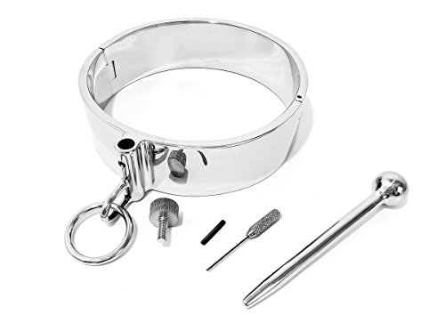 """Adult Heavy Stainless Steel Neck Posture Collar with Adjustable Head Raising Bar (15"""" - Inside Circumference)"""