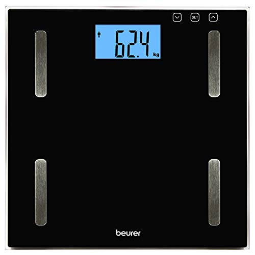 Beurer BF-179 Digitale Diagnosewaage, Glas, 1550 g, Schwarz