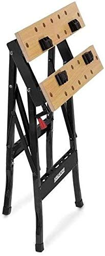 Kreator Werkbank Arbeitstisch Stahl klappbar – 100 kg Tragkraft 560x220x750 mm - 2