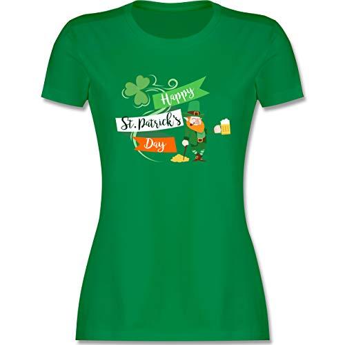 St. Patricks Day - Happy St. Patricks Day Kobold - M - Grün - st Patricks Day Shirt - L191 - Tailliertes Tshirt für Damen und Frauen T-Shirt