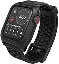 Designed for Apple Watch 40mm Series SE, Series 6/SE/4/5 Impact Case, Superior Sport Band Rugged Protective Case, Drop Proof Shock Proof Designed for Apple Watch, Stealth Black