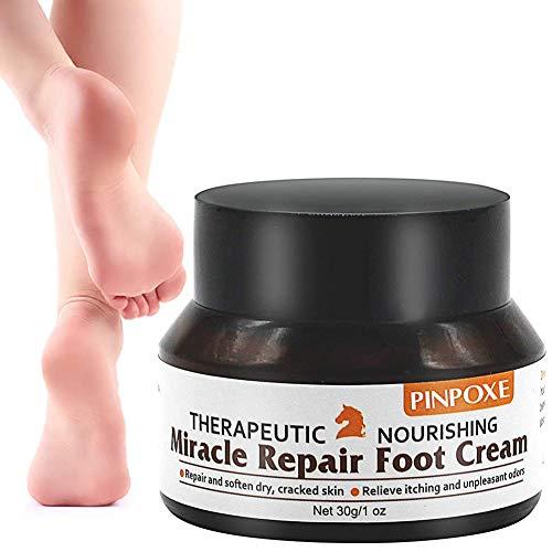 Fußcreme, Fußpilz Creme, fusspflege creme, fußbalsam, Pferdesalbe FüßeTrockene Spröde Haut Fußcreme, kuriert und verhindert Pilzinfektionen, Fußschweiß und Fußgeruch, 30g