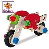 Eichhorn 100039012 - Constructor Motorrad, 40-tlg., Holz-Konstruktions-Set, 2 verschiedene...