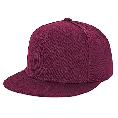LIVACASA Basecap Snapback Herren Kappe Unisex Verstrellbar Baseball Cap für Damen Baseballkappe Sonnenschutz Täglich Cap Cappy in 6 Farben Rot