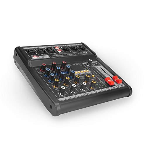 Mezcladora de audio 3 Canales 3.1+subwoofer Xlr Bluetooth Usb, Produccion de Musica Steelpro