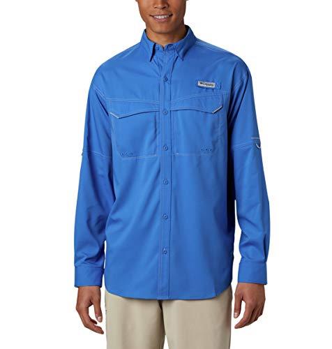 Columbia Men's Low Drag Offshore Long Sleeve Shirt, Large, Vivid Blue