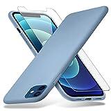 Richgle Per Cover iPhone 12 Mini & Pellicola Vetro Temperato, Sottile Silicone Morbido TPU...