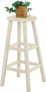 mokuシリーズ『木製フラワースタンド ハイラウンド』【IT】ホワイト(#9847240)サイズ:幅28×奥行28×高さ55cm
