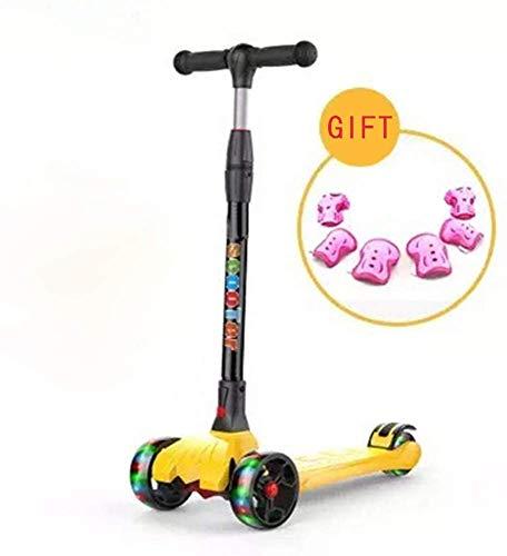 HFJKD Scooter Kinderen 2-3-6-14 jaar Kind Beginner Babypedaal Flash Vouwen Driewielige glijbaan Glad