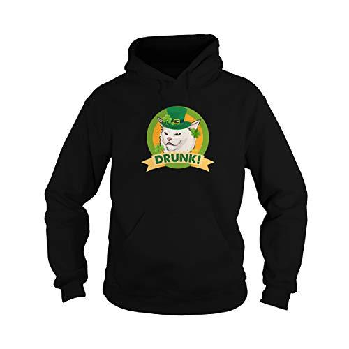 Meme de gato borracho irlandés con trébol de la suerte Shanananigans sombrero de fiesta del día de Patricio irlandés camiseta