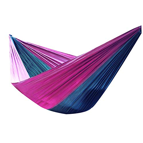 HUANXI LightweightDoubleHammocks Outdoor Double with Storage Bag + Strap,300kg Load Capacity (275x140cm) Purple Swing Outdoor for Outdoor Nylon Material With Super Size