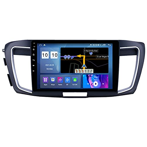 ADMLZQQ Autoradio Android Bluetooth 2 DIN Radio De Coche 10.1'' Pantalla Táctil WiFi Plug and Play Completo RCA Soporte Carautoplay/GPS/Dab+/OBDII para Honda Accord 9 CR 2012-2016,M500s