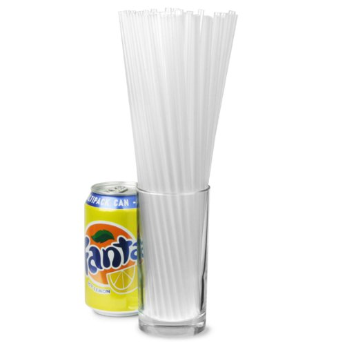 Alcopop Straight Straws 10.5 Inch Clear - Box of 250 | Drinking Straws, Ideal for Bottles