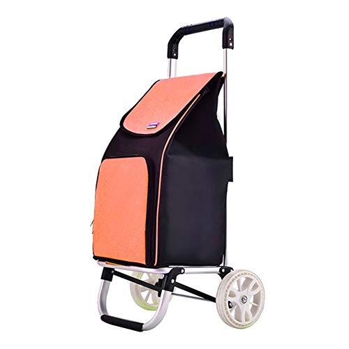WUFENG-Faltbar Einkaufstrolley Verdicken Planentasche Tragbar Leicht Haushalt Kann Kinder Ziehen, 4 Farben (Farbe : A, größe : 42x40x90cm)